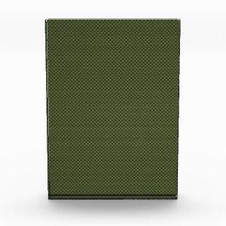 Army Green Carbon Fiber Print Acrylic Award