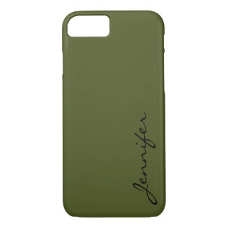 Army green color background iPhone 7 case