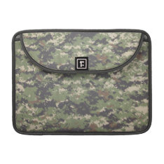 Army Green Digital Camouflage Sleeve For MacBooks at Zazzle