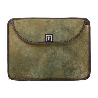 Army Green Distressed Gold Texture Laptop Case