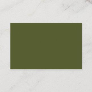Army Green European Business Card