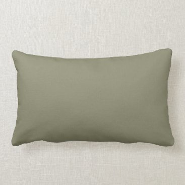 Professional Business Army Green French Grey 6a Color Only Lumbar Pillow