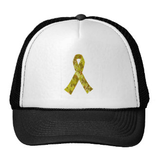 Army Green Jigsaw Puzzle Pattern Ribbon Trucker Hat