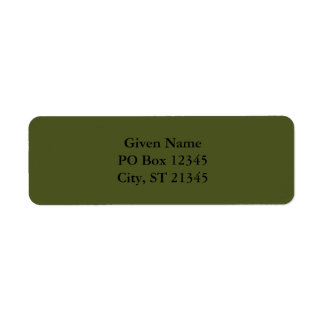 Army Green Label