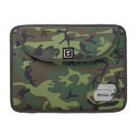 Army Green Miligary Camouflage w/ ID Tag MacBook Pro Sleeves