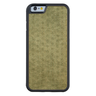 Army Green Nubby Chenille Fabric Texture Carved® Maple iPhone 6 Bumper