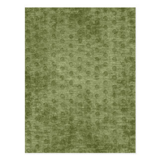 Army Green Nubby Chenille Fabric Texture Postcard