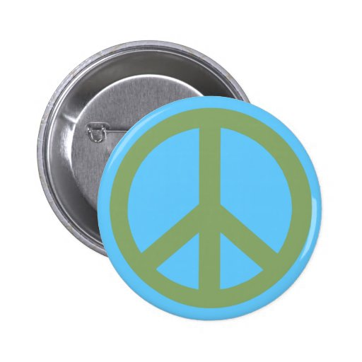 Army Green Peace Sign Products 2 Inch Round Button