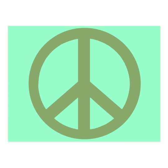 Army Green Peace Sign Products Postcard