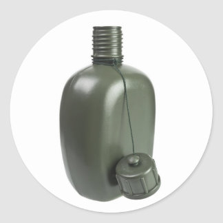 Army green plastic canteen sticker