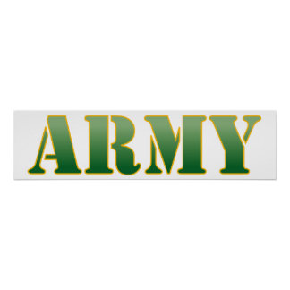 Army - Green Text Poster