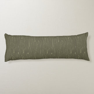 Army Green Tree  Bark Body Pillow