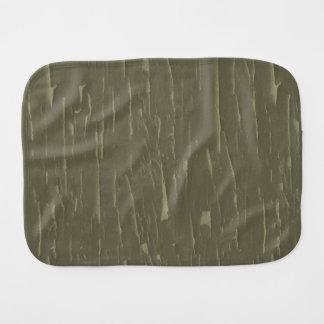 Army Green Tree  Bark Burp Cloth