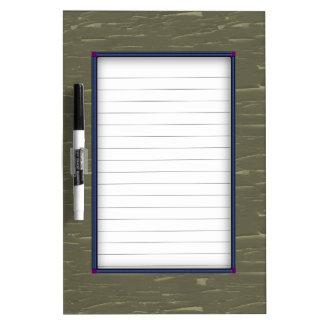 Army Green Tree  Bark Dry-Erase Board