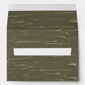 Army Green Tree  Bark Envelope