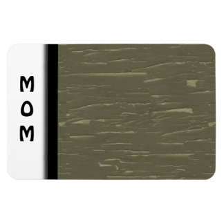 Army Green Tree  Bark Magnet