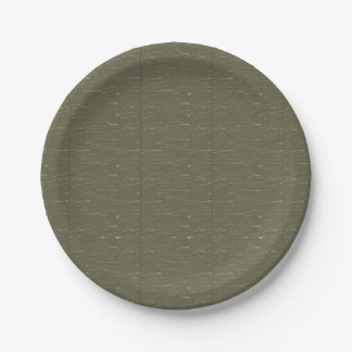 Army Green Tree  Bark Paper Plate