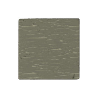 Army Green Tree  Bark Stone Magnet