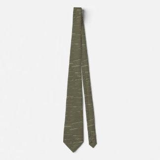 Army Green Tree  Bark Tie