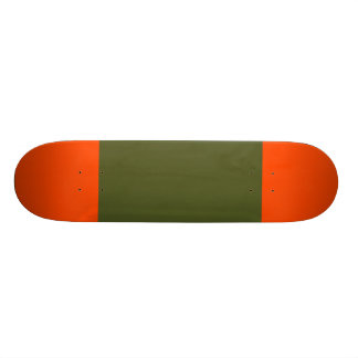 Army Green with Orange Red Tips Skateboard Deck