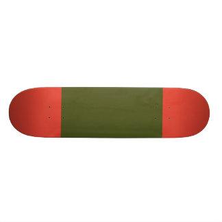 Army Green with Vermillion Tips Skateboard Decks