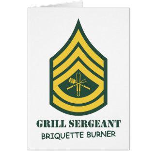 Army Grill Sergeant Card