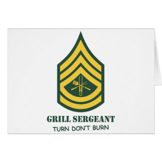 Army Grill Sergeant Greeting Card