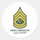 Army Grill Sergeant Classic Round Sticker