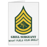 Army Grill Sergeant Greeting Cards