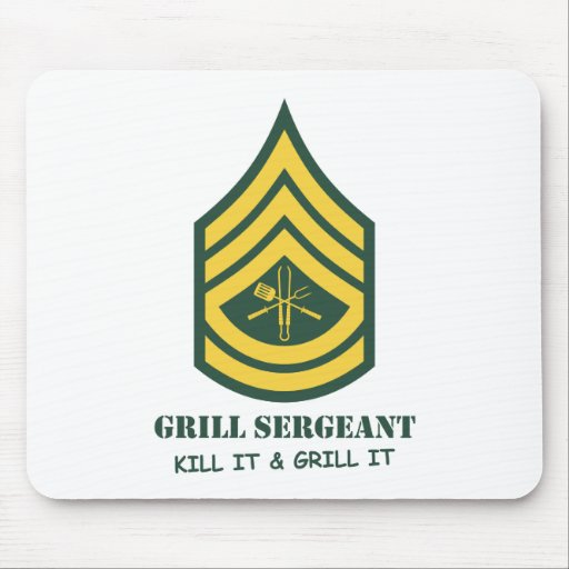 Army Grill Sergeant Mouse Pad