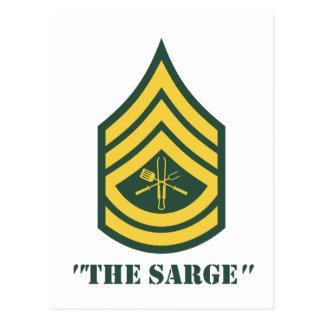 Army Grill Sergeant Postcard