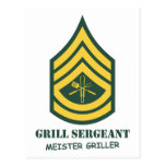 Army Grill Sergeant Postcards
