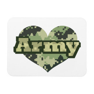Army Heart Magnet