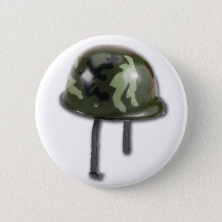 Army Helmet Pinback Button