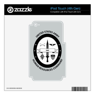 Army Human Resources Command - 3 -BW Skin For iPod Touch 4G