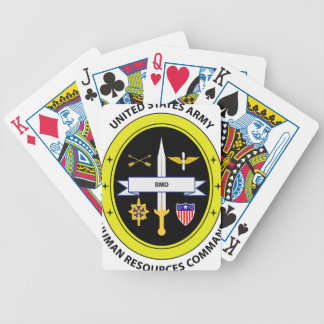 Army Human Resources Command Bicycle Playing Cards