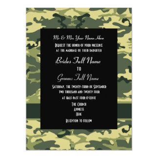 Army, hunting or military wedding card