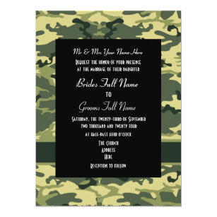 Army Hunting Or Military Wedding Invitation