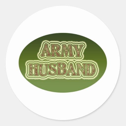 Army Husband Classic Round Sticker