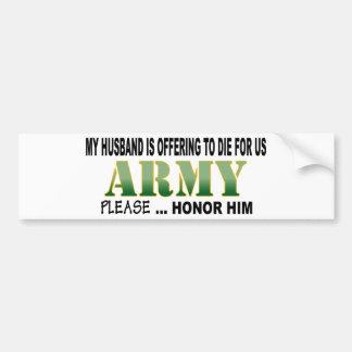 Army Husband Honor Car Bumper Sticker