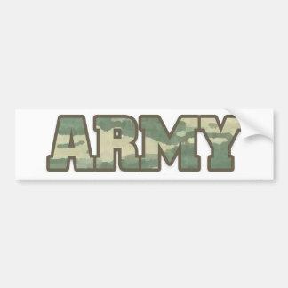 Army in Camo Car Bumper Sticker