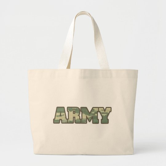 Army in camo large tote bag