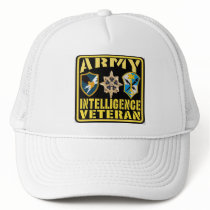 Army Intelligence Veteran Trucker Hat