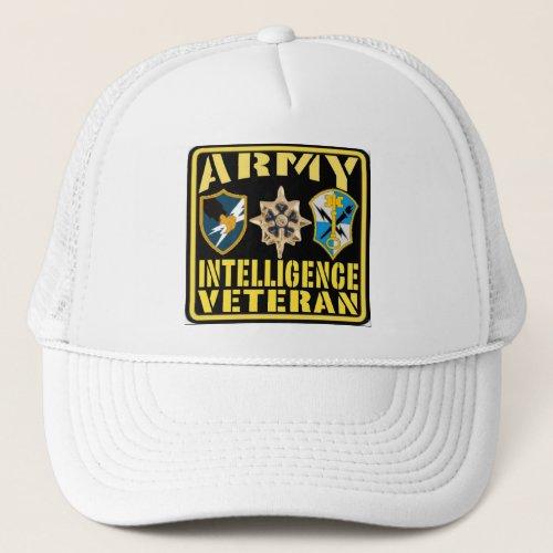 Army Intelligence Veteran Trucker Hat