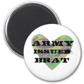 Army Issued Brat 2 Inch Round Magnet