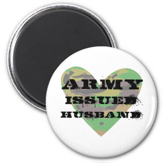 Army Issued Husband 2 Inch Round Magnet