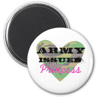 Army Issued Princess 2 Inch Round Magnet