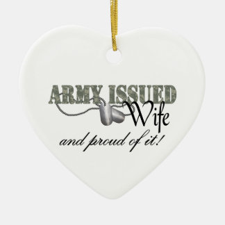 Army Issued Wife Ceramic Ornament