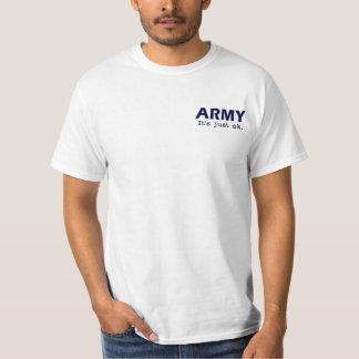 Army. It's just ok. - Go USAFA - white tee