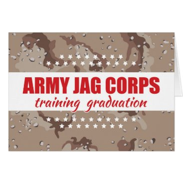 Army JAG Corps Training Graduation, Judge Advocate Card
